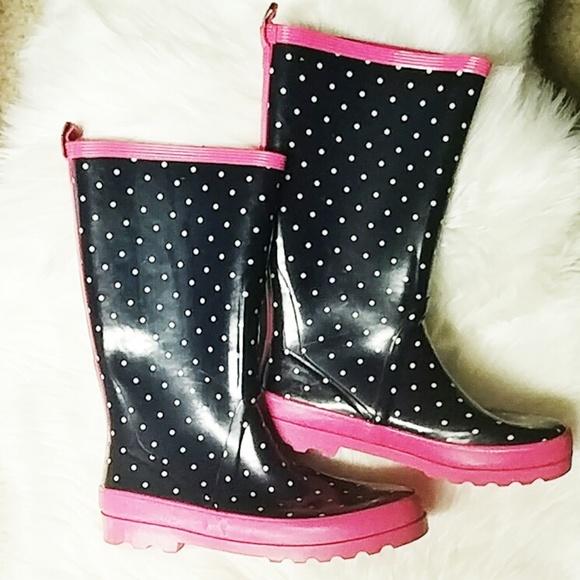 J. Crew Shoes - J.CREW POLKA DOT WELLINGTON RAIN BOOTS SIZE 11